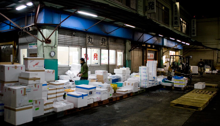 Zona de carga en el Mercado de Tsukiji