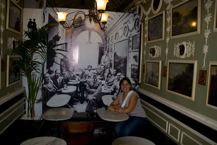 Desde el antiguo Caffé Greco