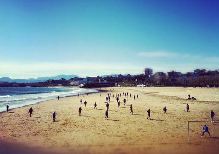 Playa del Sardinero en Santander.