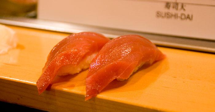 Un poco de fatty tuna en el Sushi-Day - Tokyo