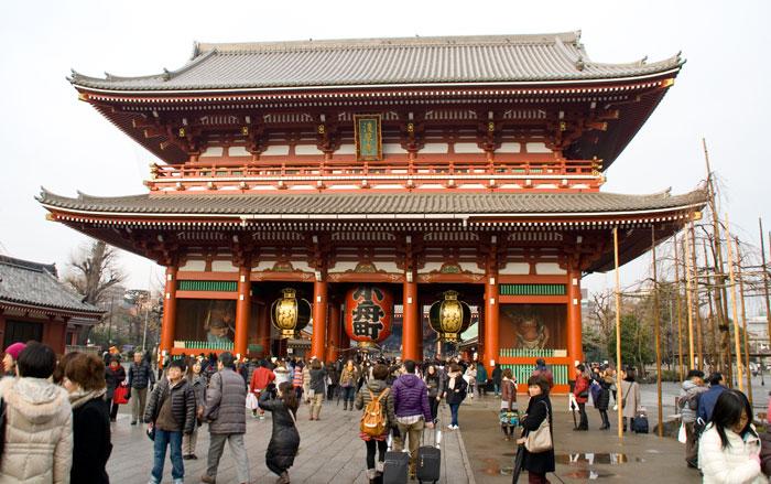 Entrada del templo Shensho-Ji