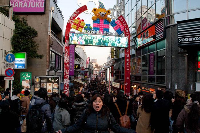 Flipando con Takeshita Dori