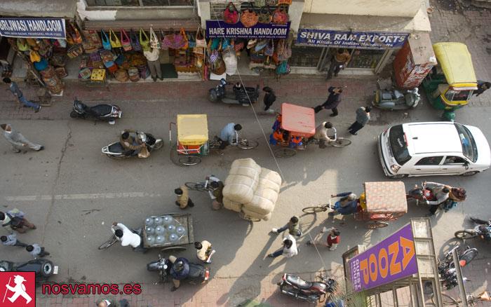 Vista desde la terraza del Anoop Hotel, en el Paharganj
