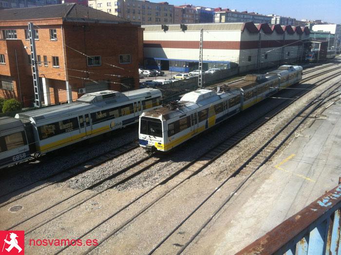 Vías del tren de acceso a Santander