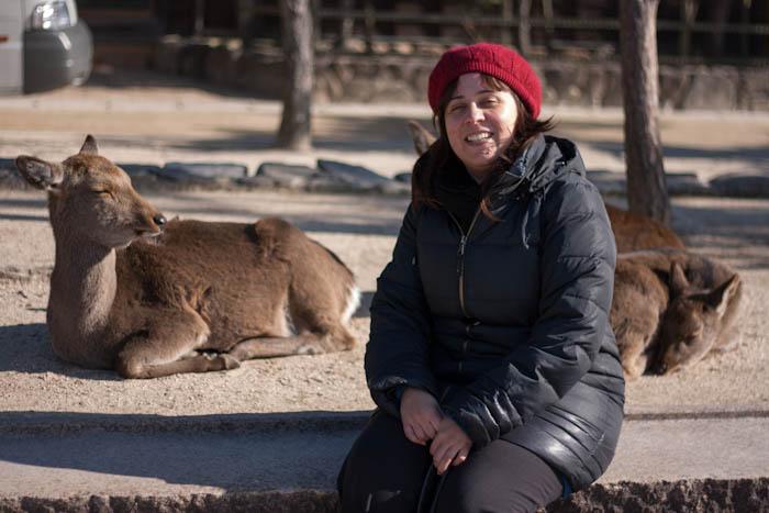 Ruth y los ciervos de Miyajima