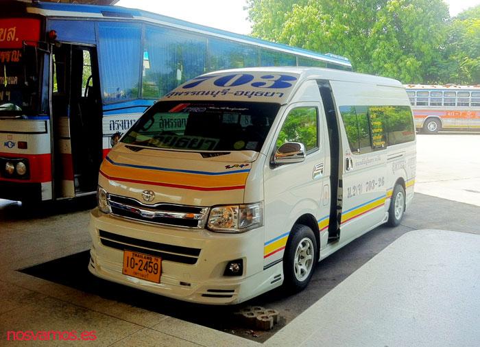 Veréis miles de estas furgonetas por toda Tailandia