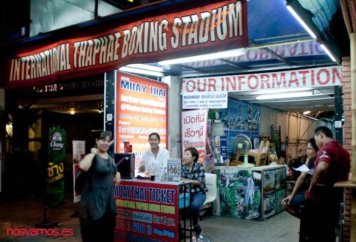Entrada y venta de tickets del Thaphae Boxing Stadium
