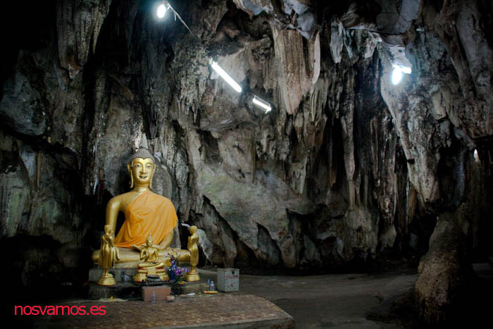 Santuario principal antes de la salida de la cueva. Templo  de la Cueva.