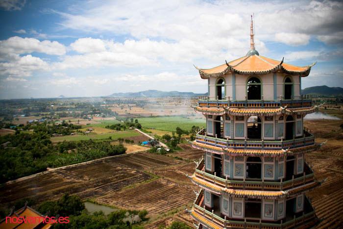 Una de las vistas desde lo alto de la Pagoda