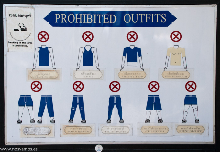 Información sobre la indumentaria necesaria