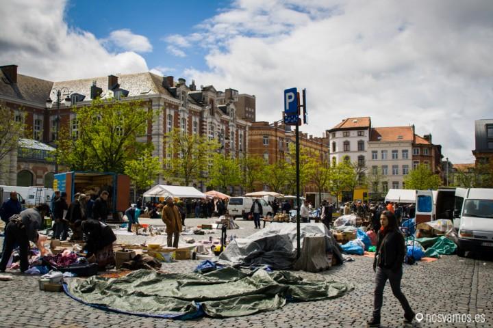Mercado de las pulgas, Place du Jou de Balle. Bruselas