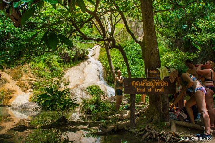 Fin de la ruta junto a la séptima cascada