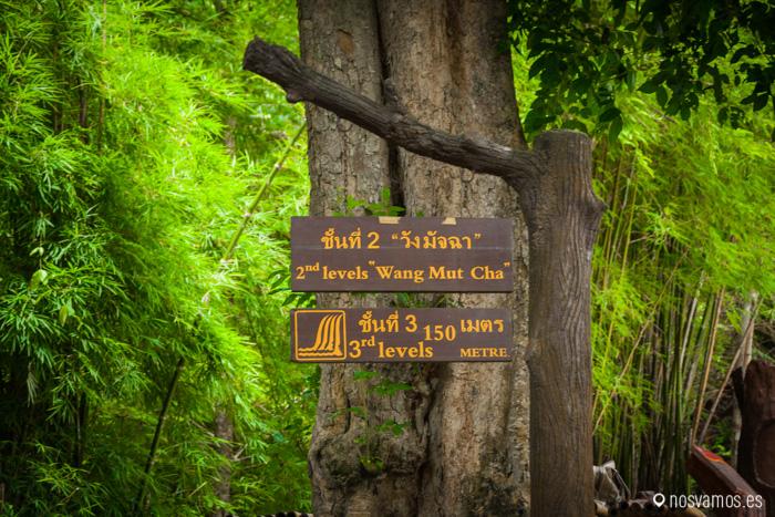 Indicaciones para seguir la ruta de las cascadas
