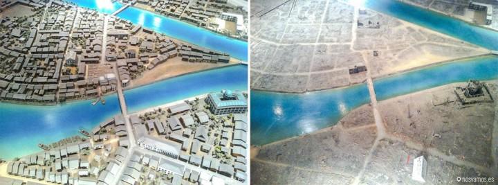 Antes y después de la ciudad de Hiroshima