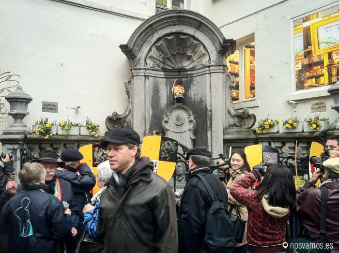 El niño más visitado de Bruselas, el Manneken Pis