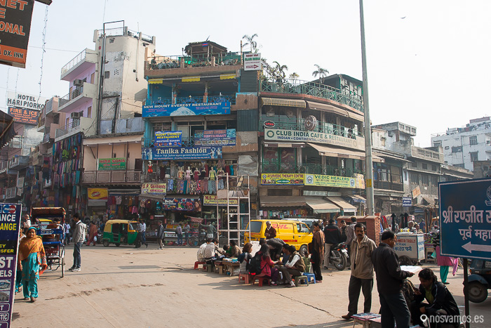 Plaza central de la zona del Paharganj