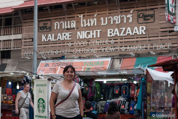 Entrada al mercado nocturno, Kalare Night Bazaar