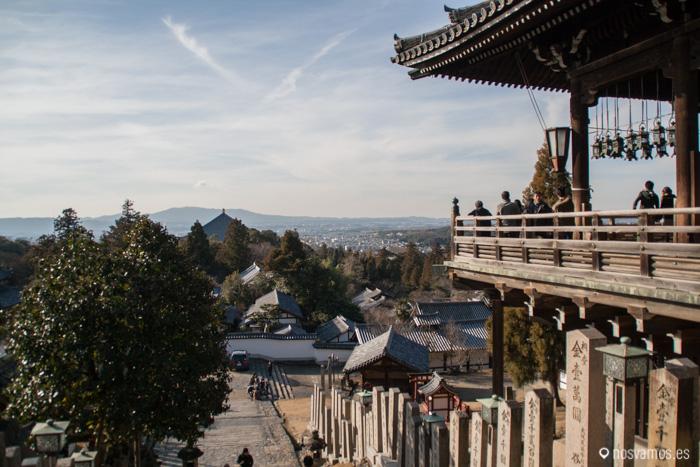 Vista de Nara desde el templo Nigatsu-Do