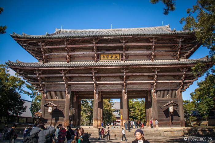Arco de entrada al recinto del Todaiji