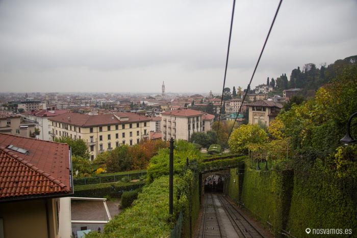 Vista de la Citta Bassa desde el funicular