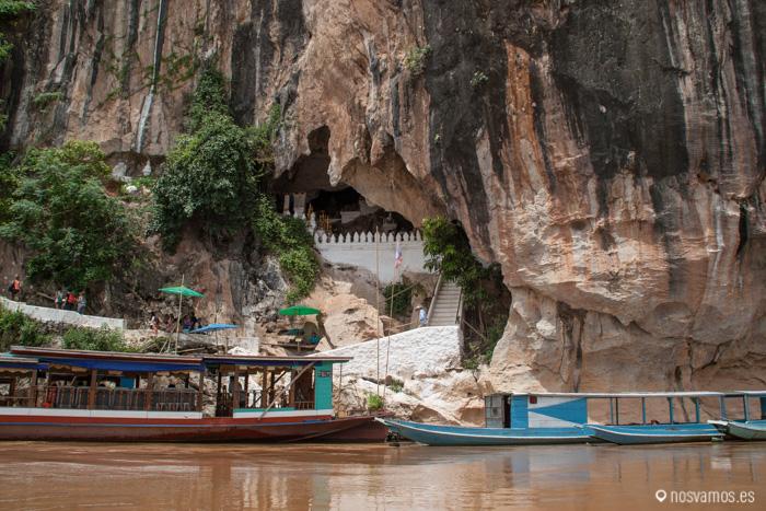 Las barcas más grandes son las que hacer el tour desde Luang Prabang