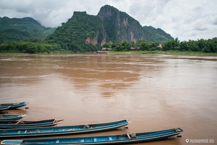 El color del río mekong impresiona
