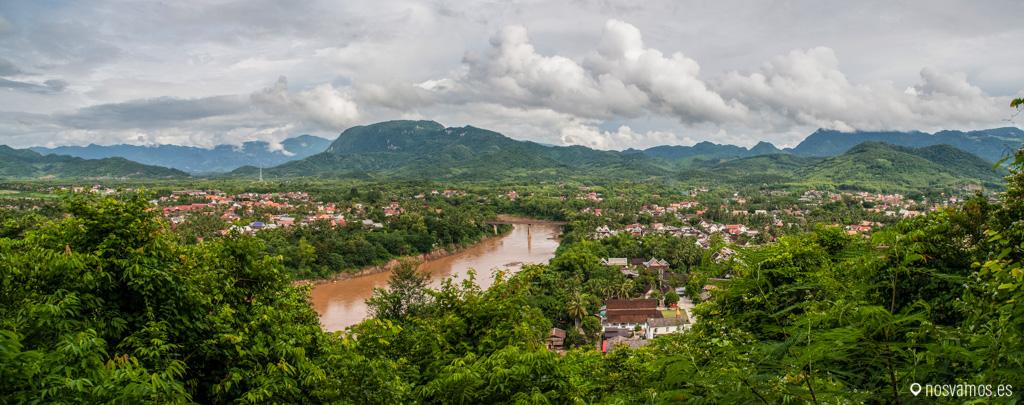Una panorámica espectacular de Luang Prabang y del río Mekong