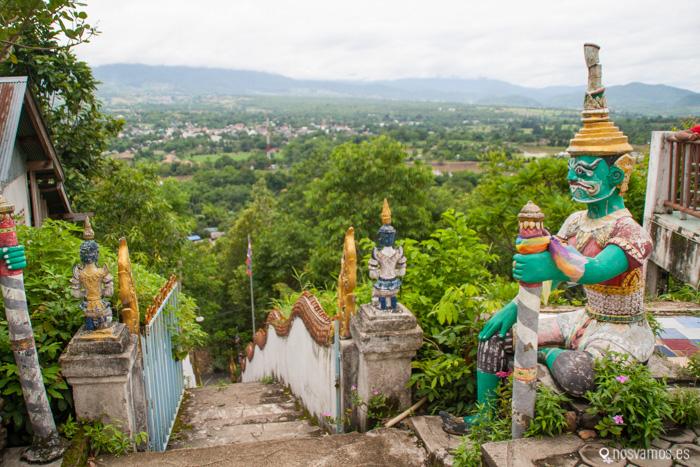 Las vsitas sobre el valle y el pueblo de Pai bien merecen la subida