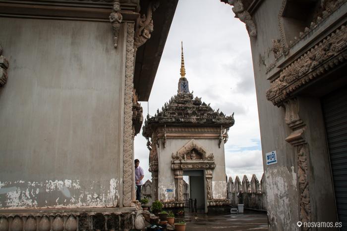 Los cuatro pilares en lo alto del arco