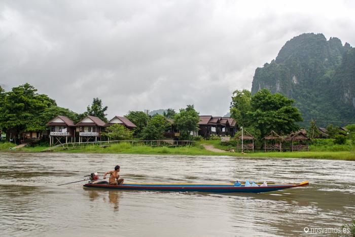 El río es el centro de toda la actividad