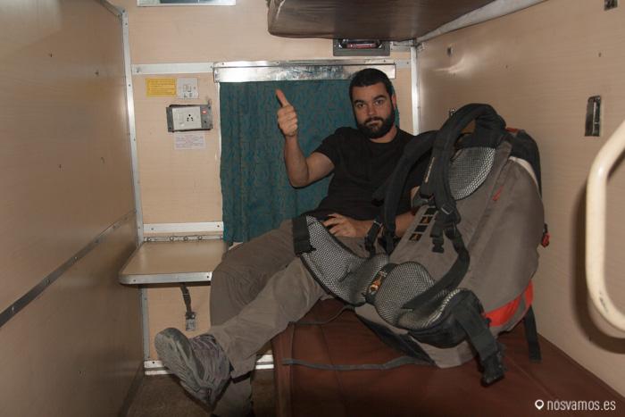 La cama de un tren en India, al final resultaba cómoda. Viajando de Delhi a Jodhpur, India 2011