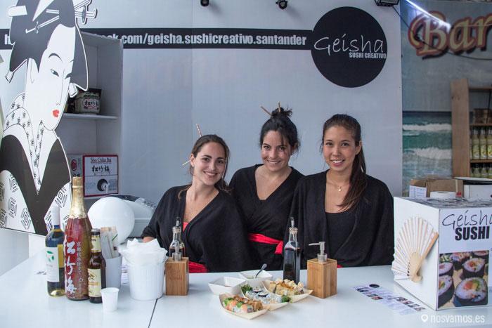 Ornela, Silvia y Elisa de Geisha Sushi Creativo