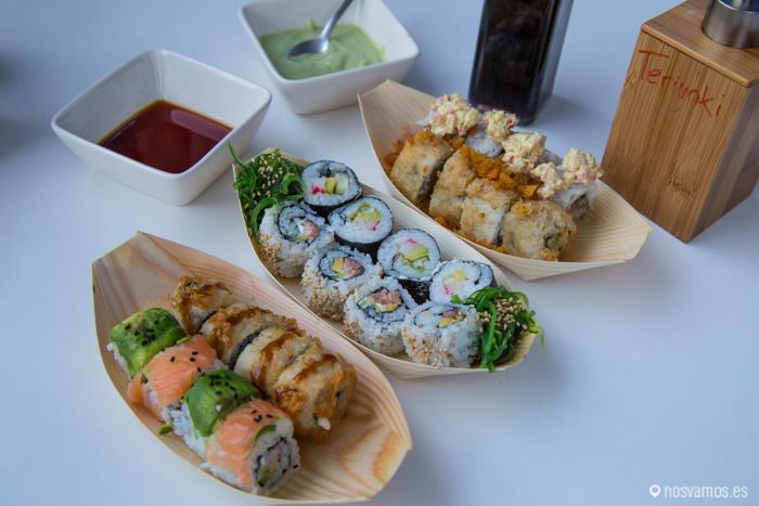Nuestras raciones de sushi creativo, delicioso!!!!