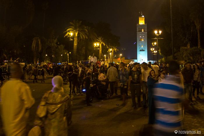 La Koutoubia desde la Plaza Jemaa El Fna