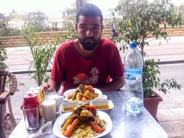 Uno de los mejores que comimos en el viaje, fue en un pequeño bar familiar de Rabat