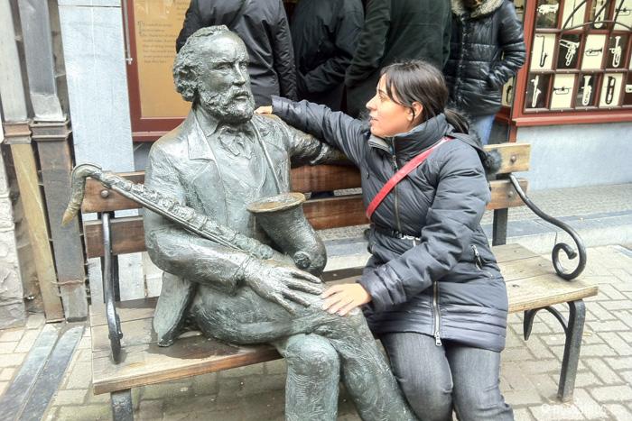 Ruth con Adolph Sax