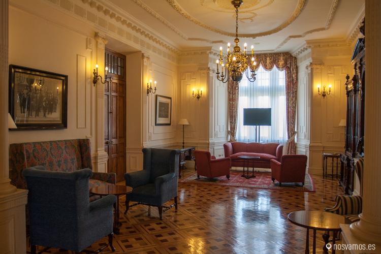 Uno de los salones de la entrada de visitas del Palacio de la Magdalena