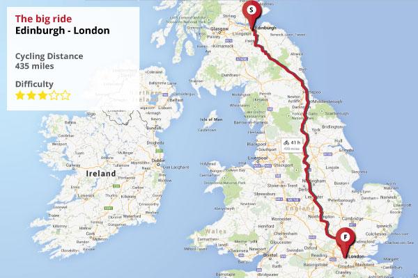 Recorrido entre Edimburgo y Londres por Palestina