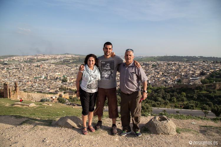Con mis padres, Rosa y Roberto sobre la medina de Fez