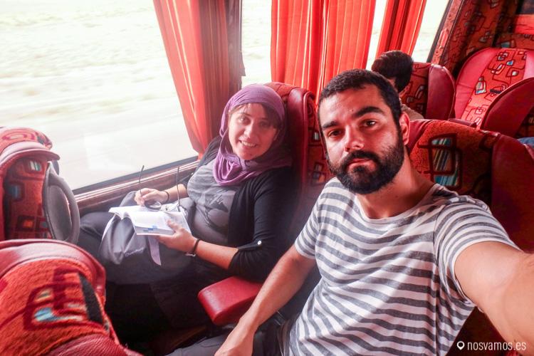 Primer viaje en bus por Irán