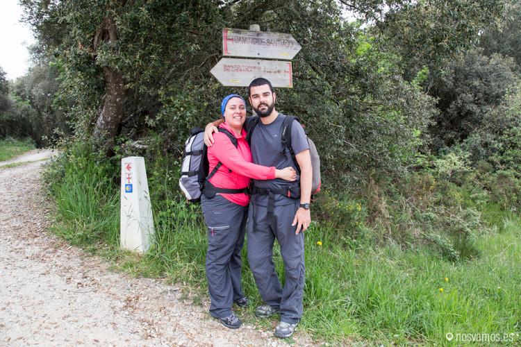 Momento en el que se separa el camino Lebaniego del Camino de Santiago